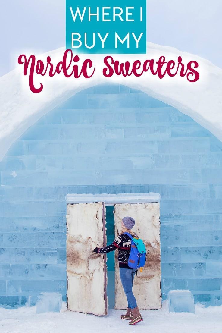 nordic wool fair isle Norwegian sweater guide