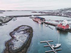 helgeland coast Norway in winter