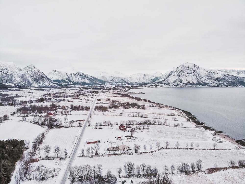 vinter på Helgelandskysten Norge desember