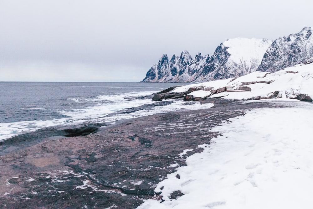 tungeneset senja, norway in winter