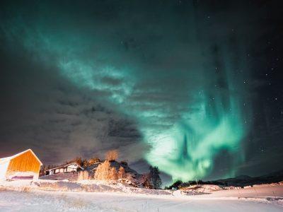 northern lights in norway, dyrøy senja