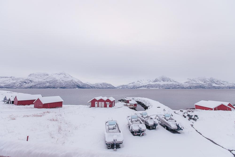 dyrøy holiday norway in winter snow
