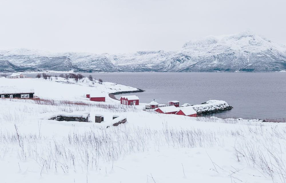 dyrøy holiday norway in winter snow in december