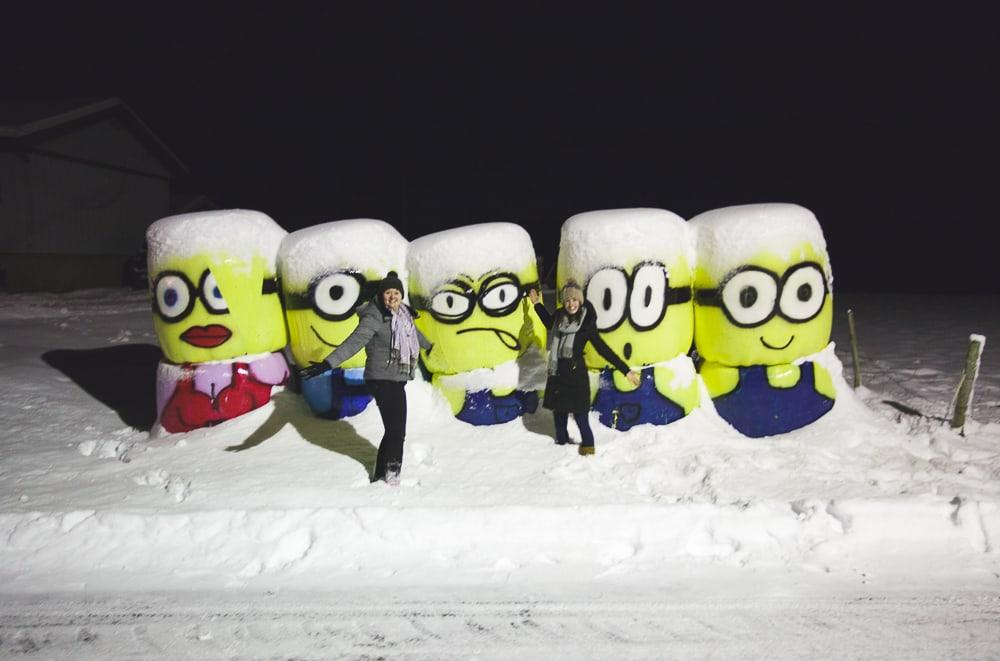 minions in the snow in norway