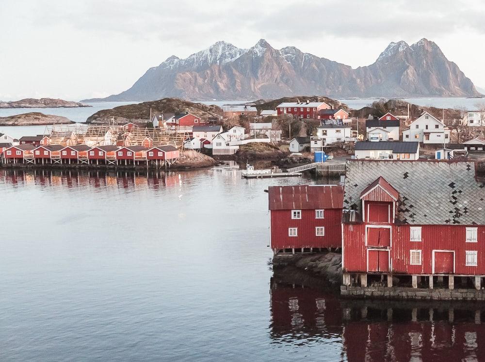 svinøya svolvaer lofoten norway in winter