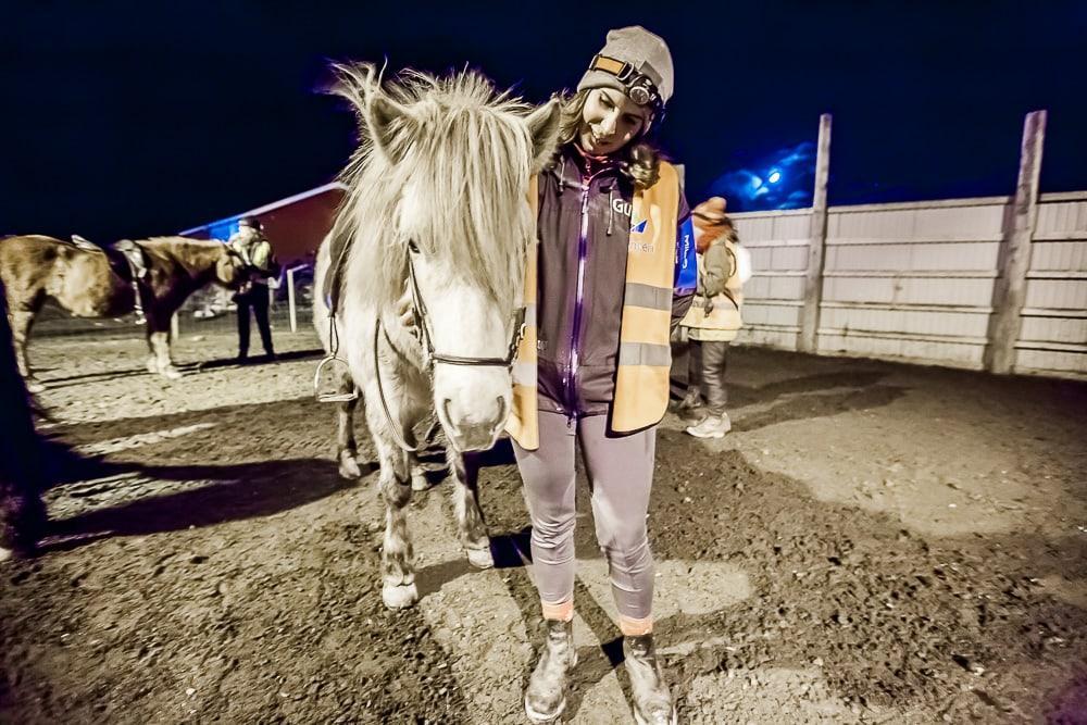 hov hestegård horse riding lofoten northern lights