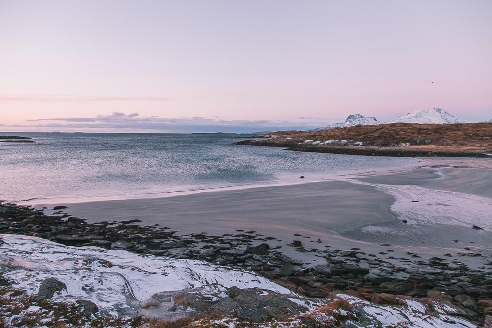 bodø coast in winter