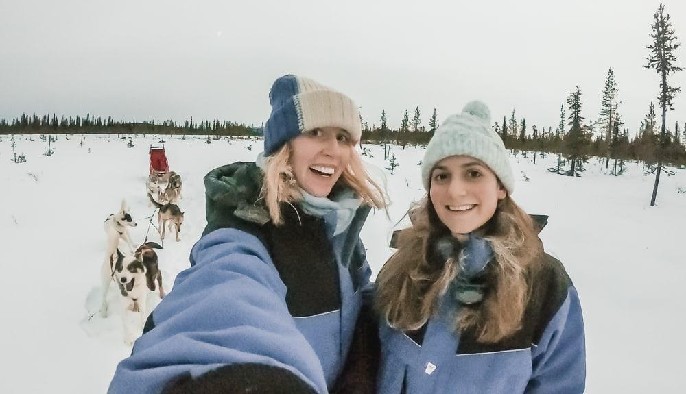 husky sledding in kiruna sweden airbnb