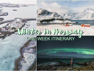 one week norway itinerary winter