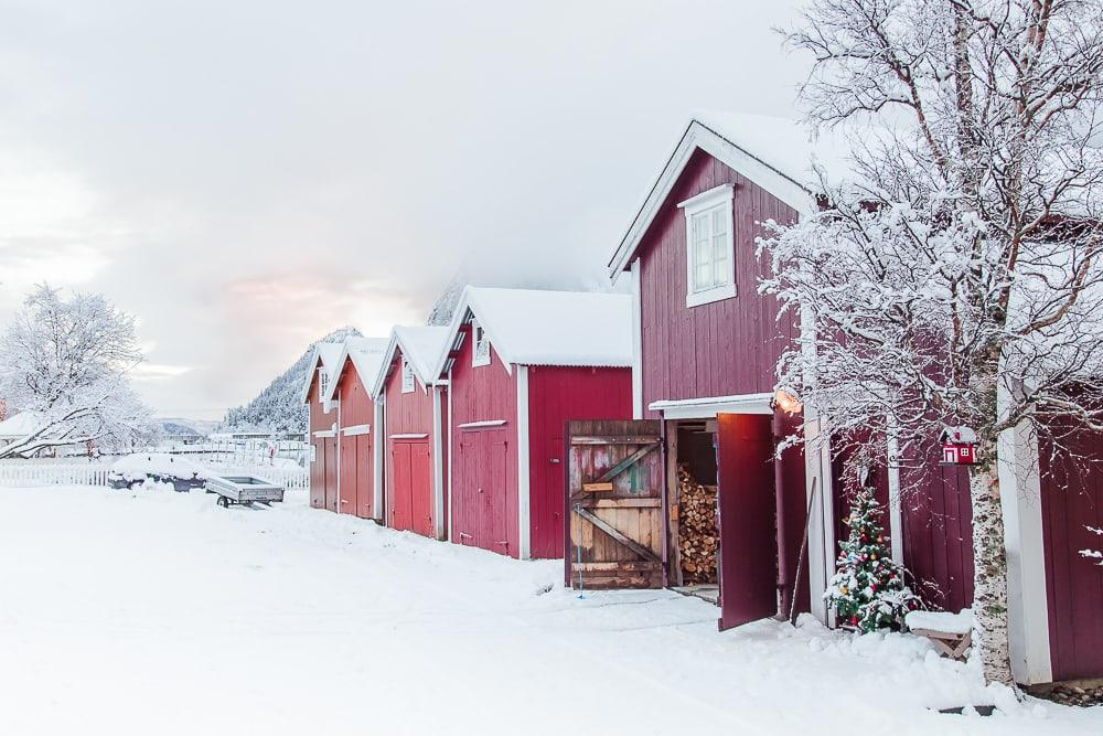 christmas in mosjøen, norway in december