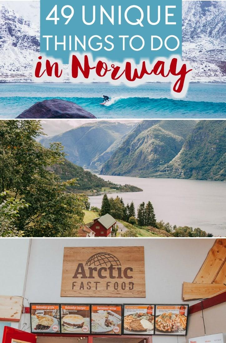 Unique things to do in Norway