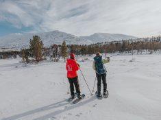 snowshoeing in helgeland