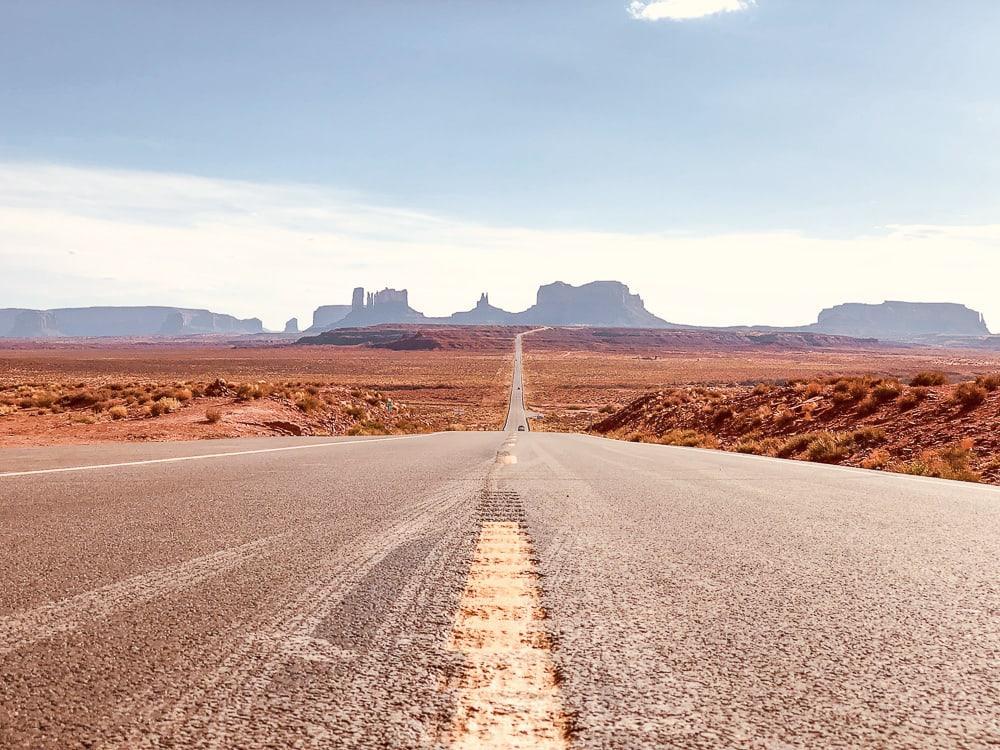 US road trip monument valley