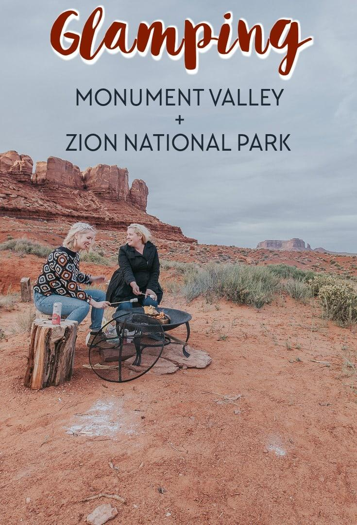 glamping in monument valley and zion national park with airbnb