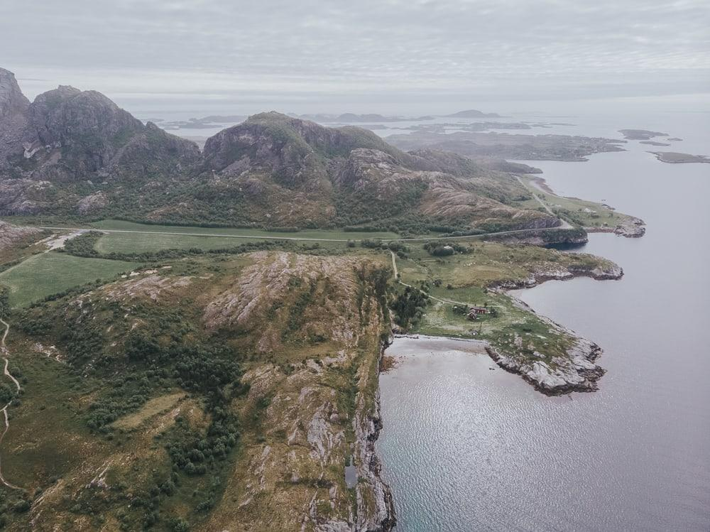 view from dønnamannen hike dønna island helgeland coast norway