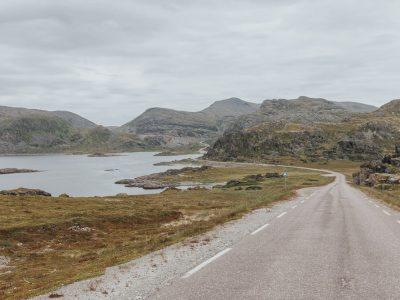 national tourist route to havøysund, norway in summer