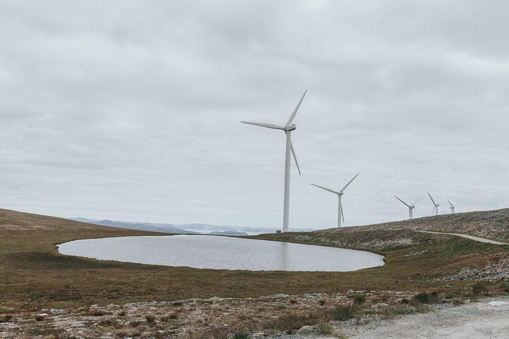 havøysund norway in summer windmills