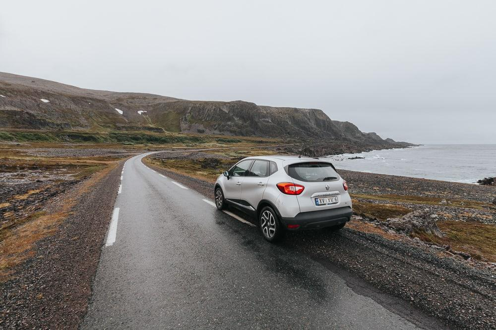 varanger tourist route in summer norway