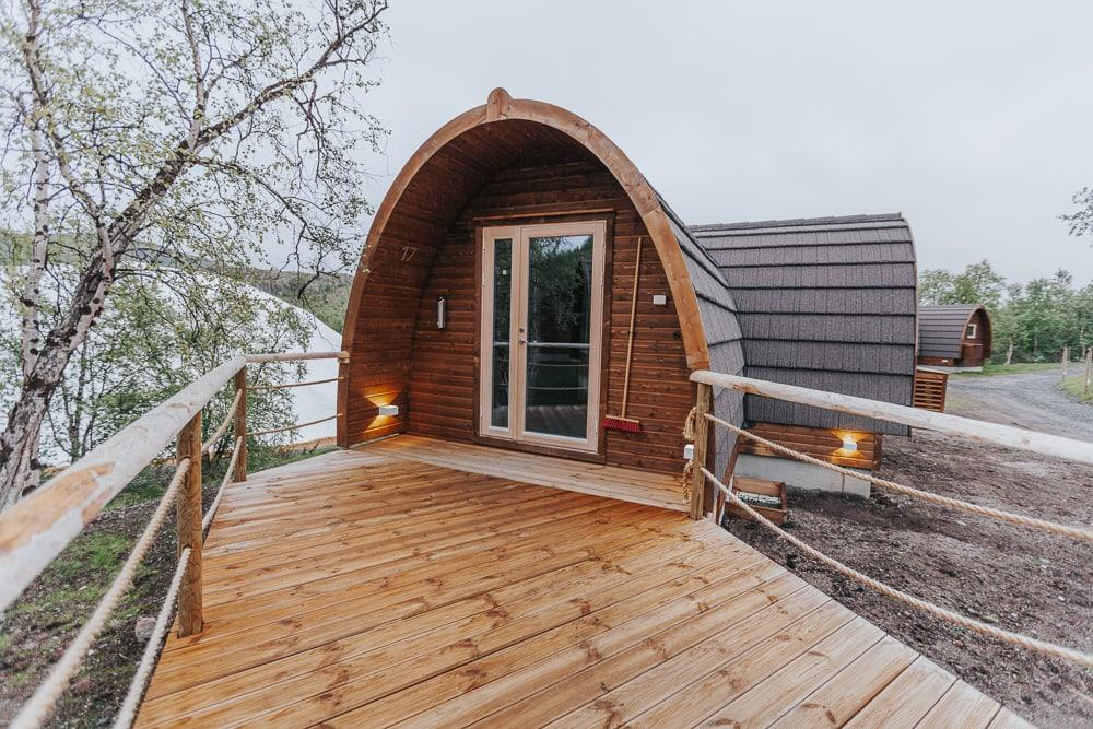 gamme cabin snow hotel kirkenes norway