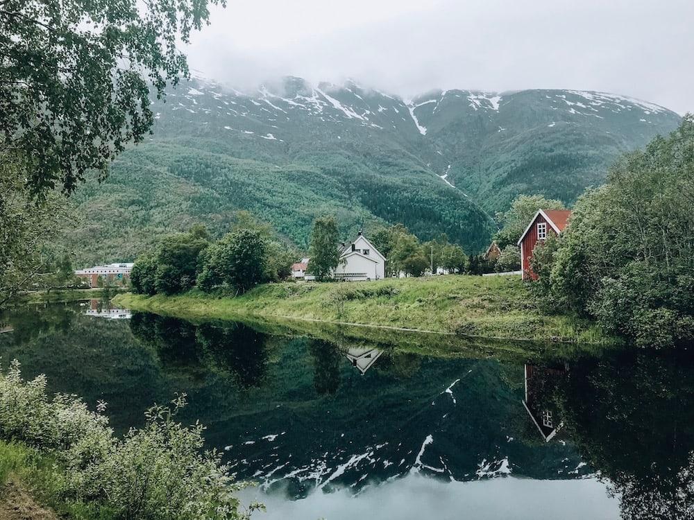 mosjøen, norway in summer