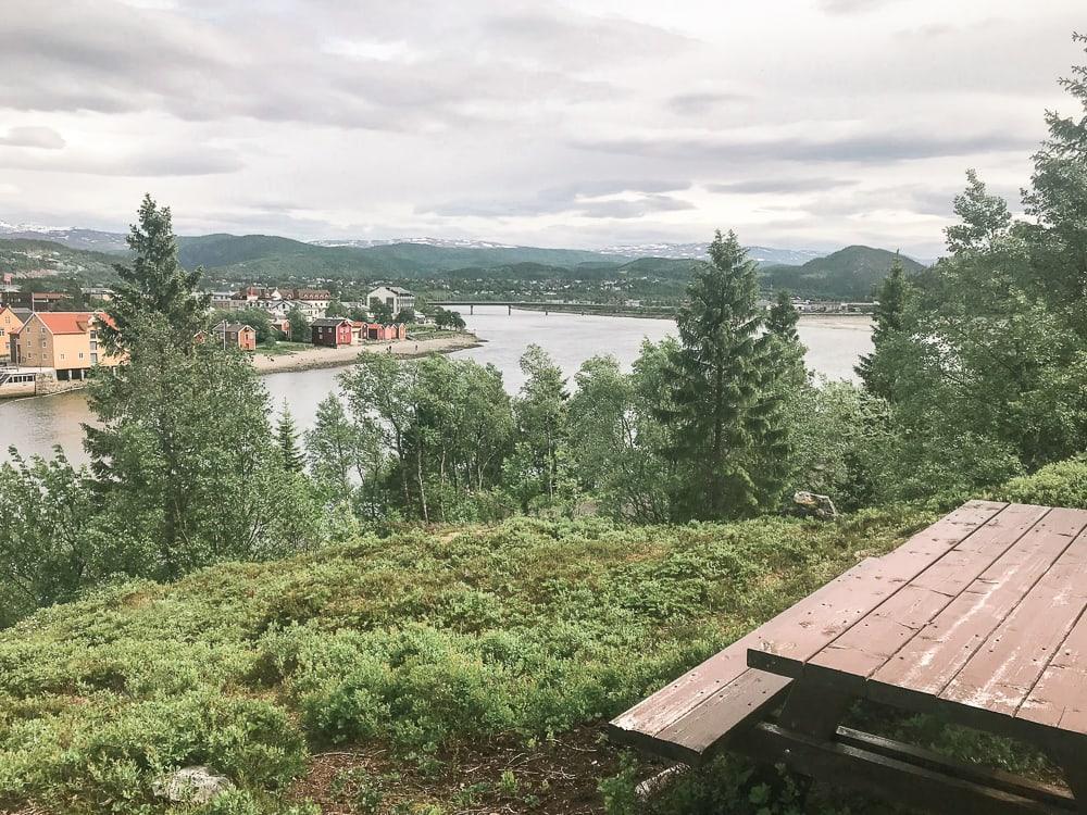 marsora hiking trail picnic table mosjoen