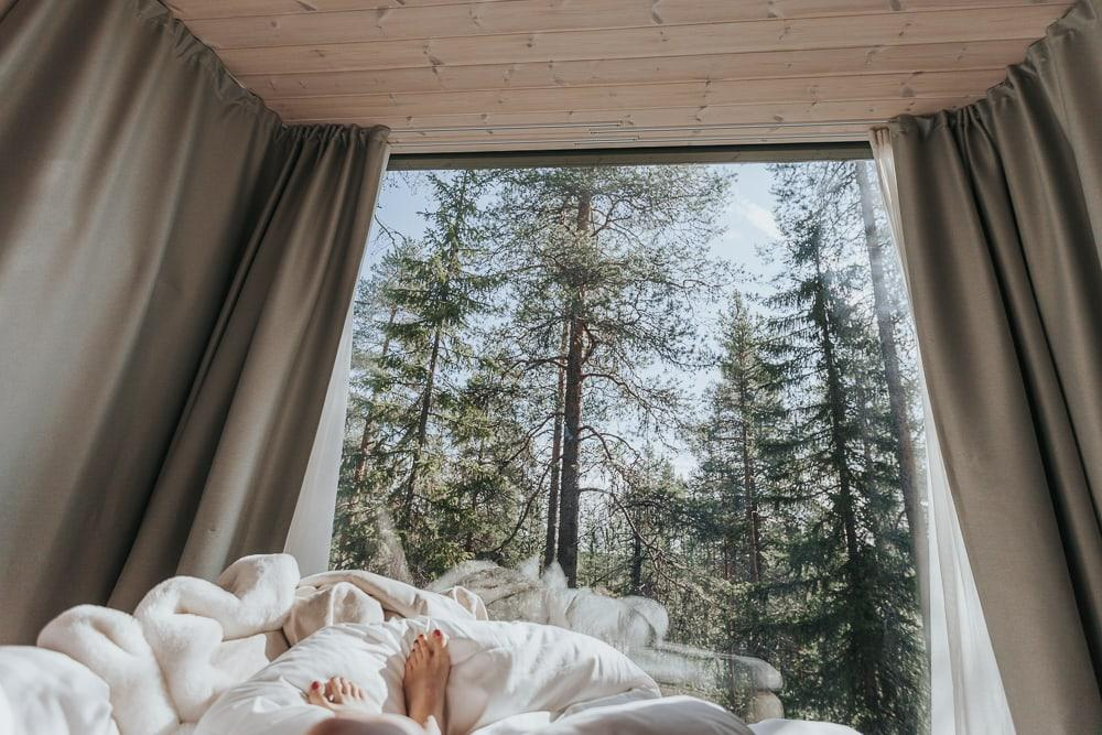arctic treehouse hotel rovaniemi finland in summer