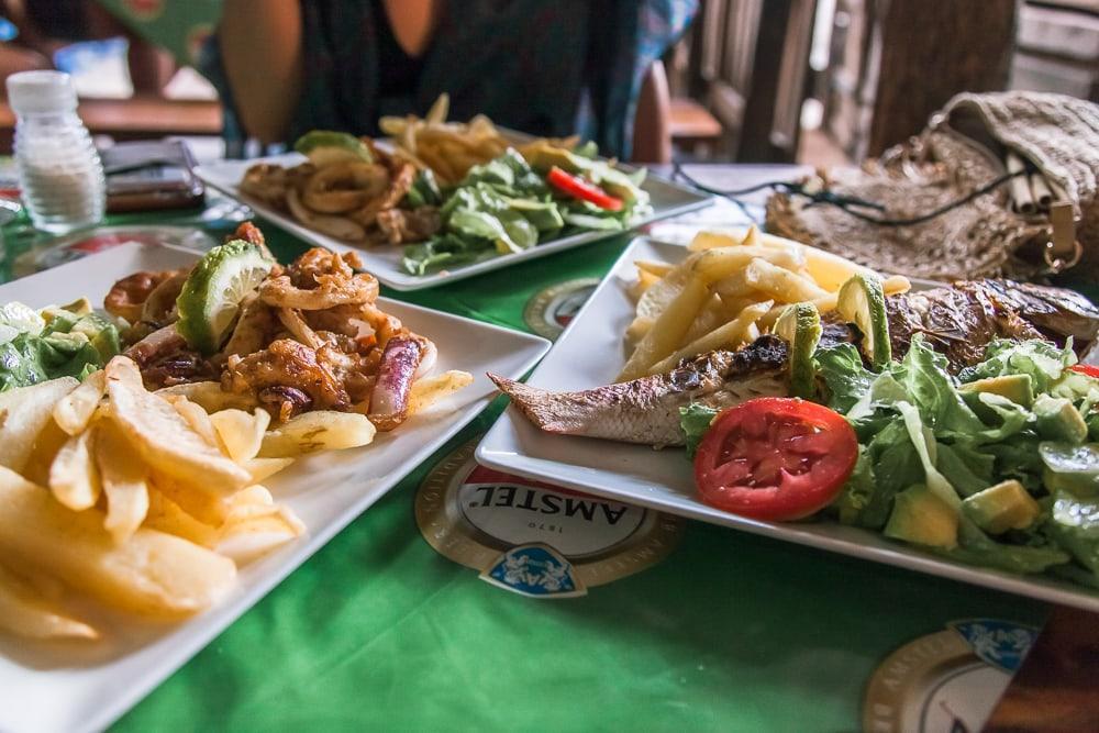 mama bia tofo market restaurant mozambique