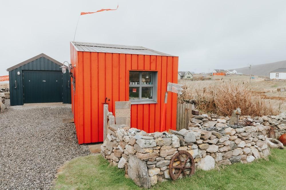 sentier artisanal des shetlands rouge houss