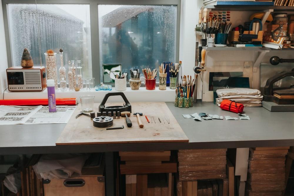 Atelier d'artisanat rouge Houss Trail Shetland