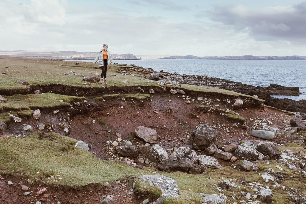 Côte shetland en automne