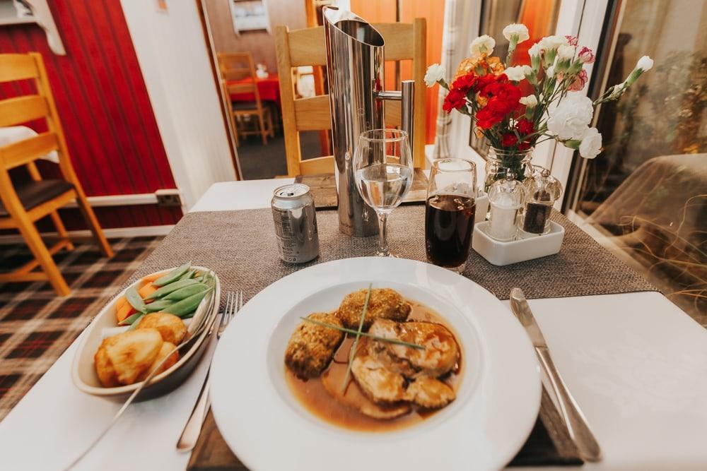 dîner au restaurant drumquin brae shetland