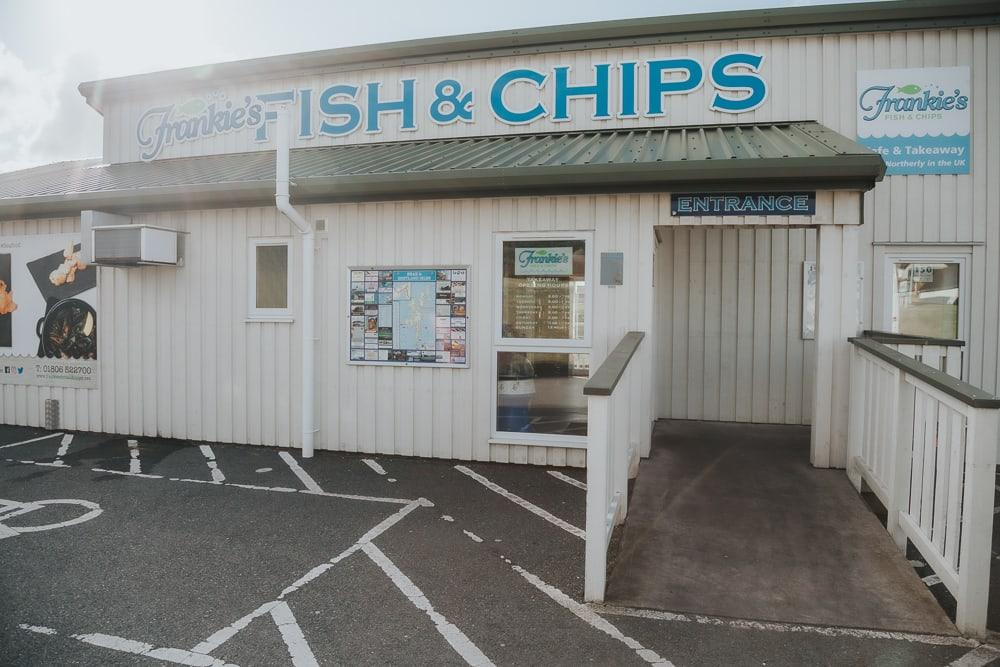 frankie's fish and chips shetland