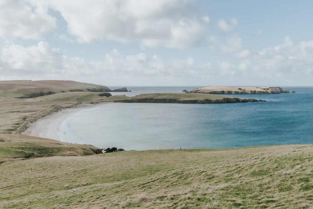 tombolo beach île de st ninian shetland