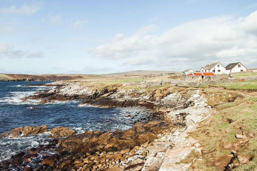 No Ness et le Burraland Broch, Sandwick Shetland