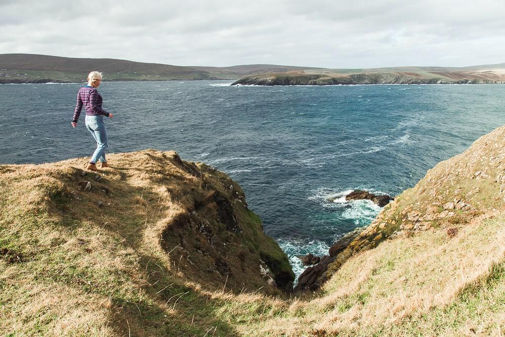 no ness and the broch of burraland, sandwick shetland