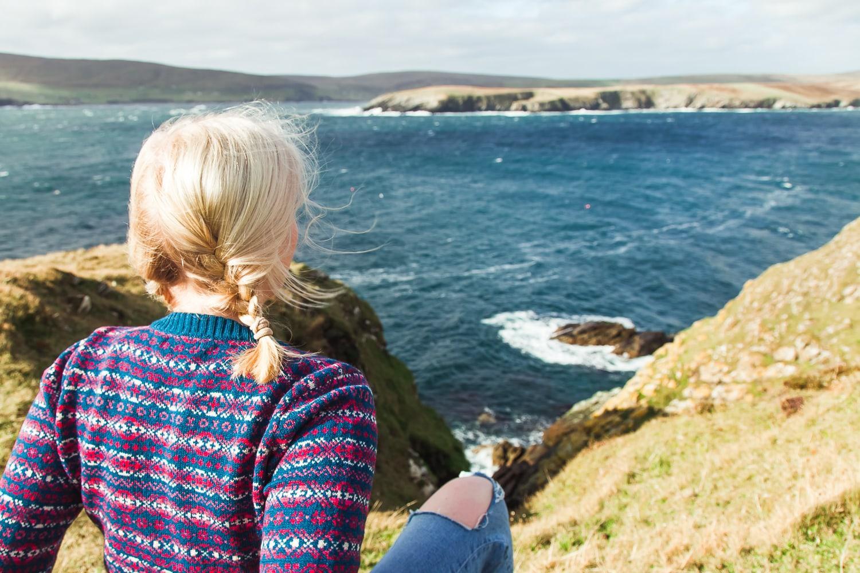 pull en laine côte ninian shetland