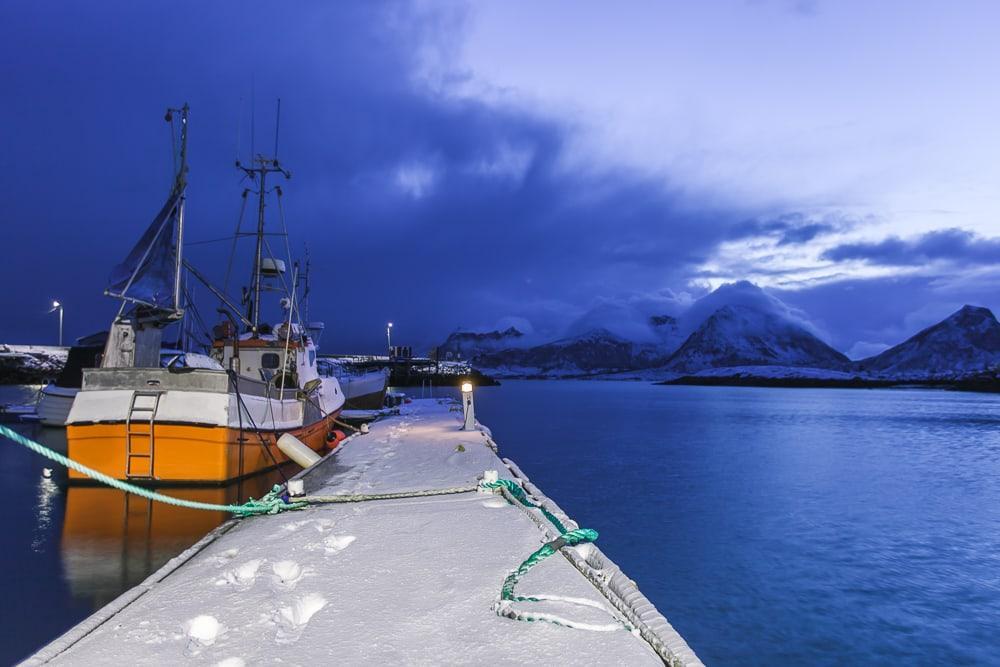 bolga brygge helgeland norvège en décembre