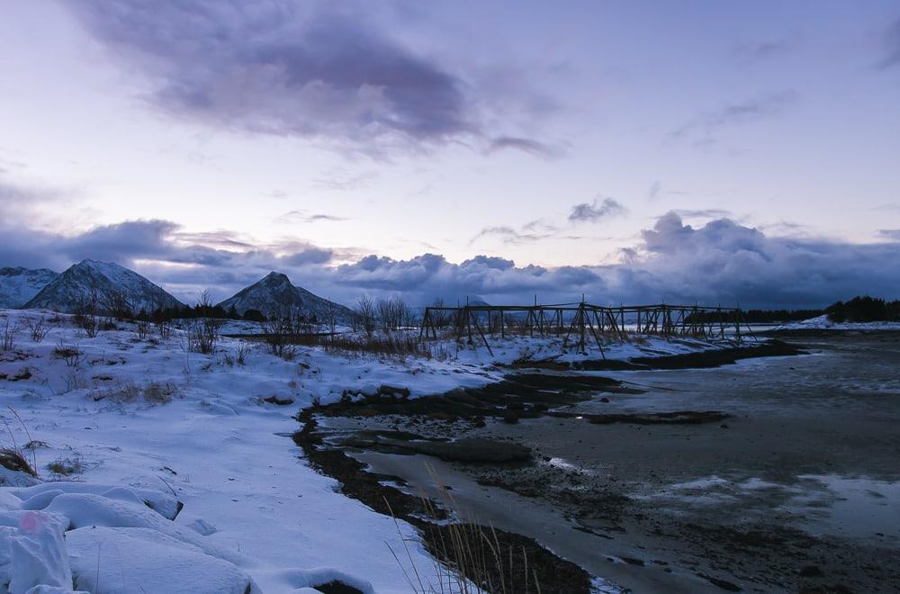 Meløy helgeland norvège île de bolga en hiver