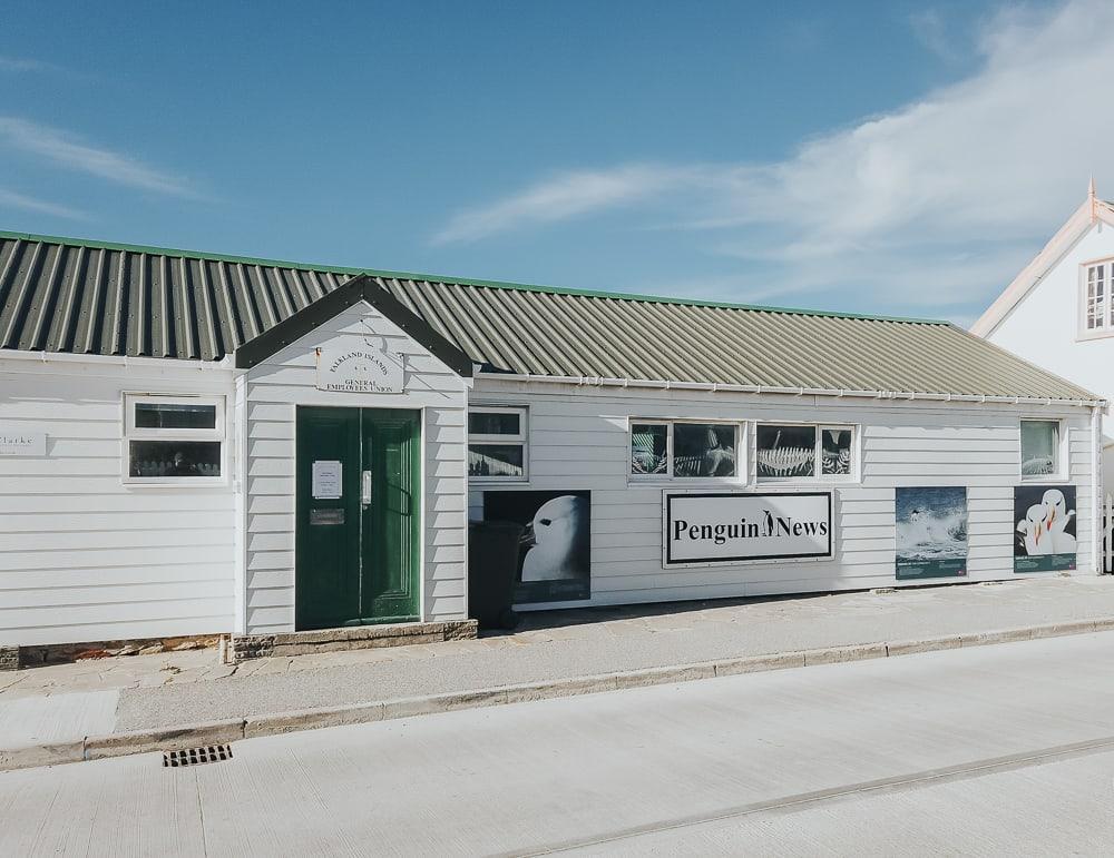 downtown stanley falkland islands penguin news