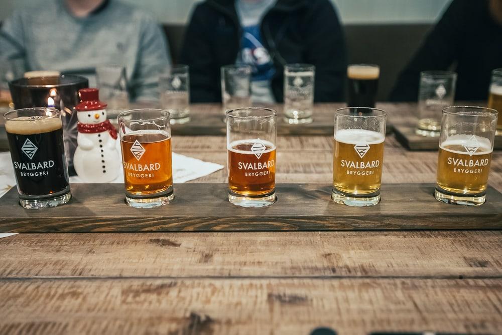 dégustation de bières svalbard bryggeri