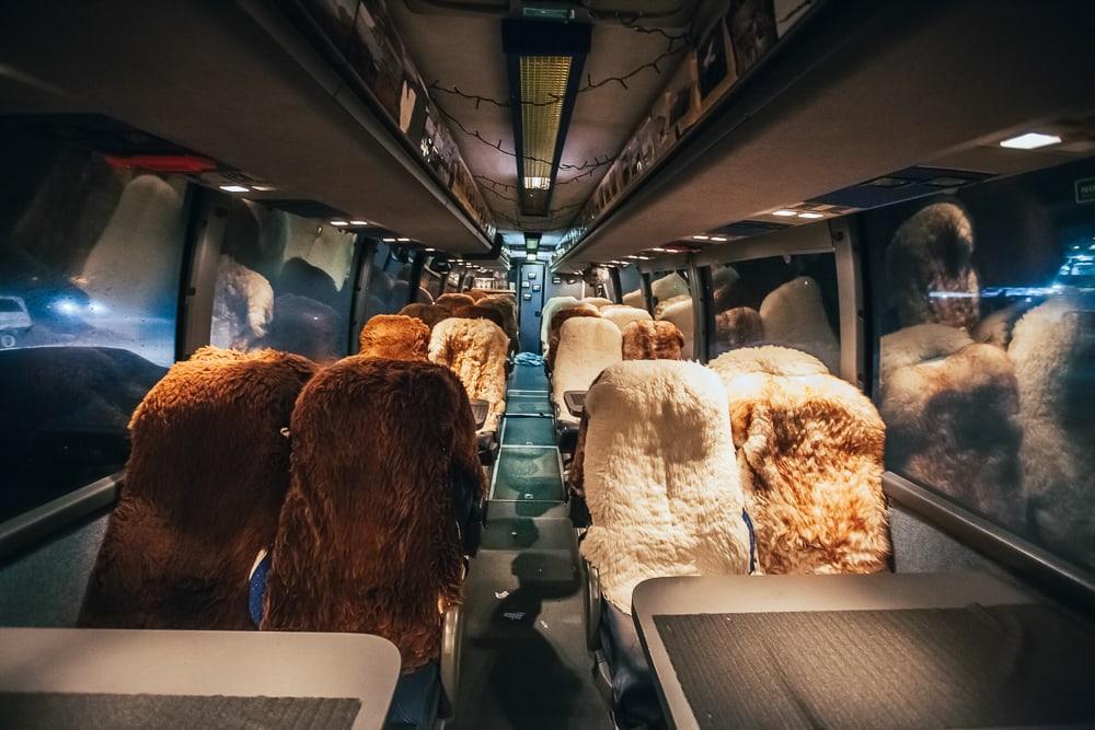 Casquettes arctiques sur le bus de permaculture polaire