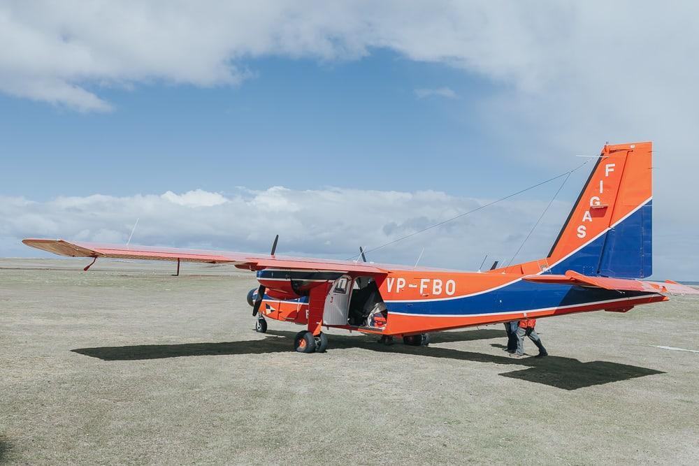 FIGAS Islander plane falkland islands