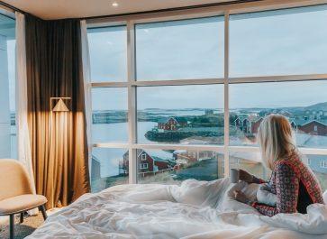 lovund hotel room view helgeland, norway