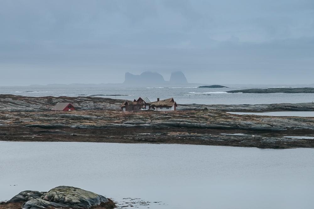 view of træna from lovund helgeland norway