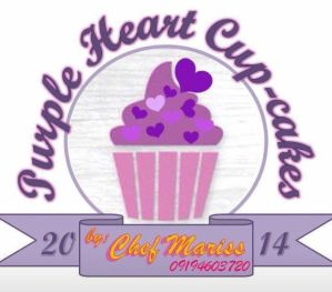 1 8 - Purple Heart Cup-cakes