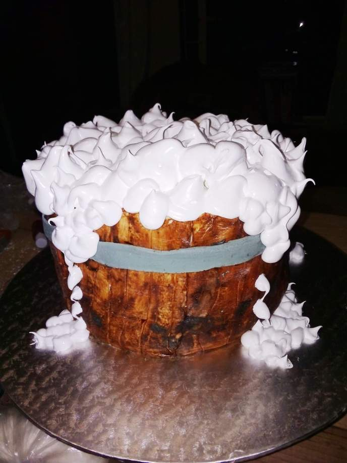 barrel bathtub bubbles cake - Serene's Delights