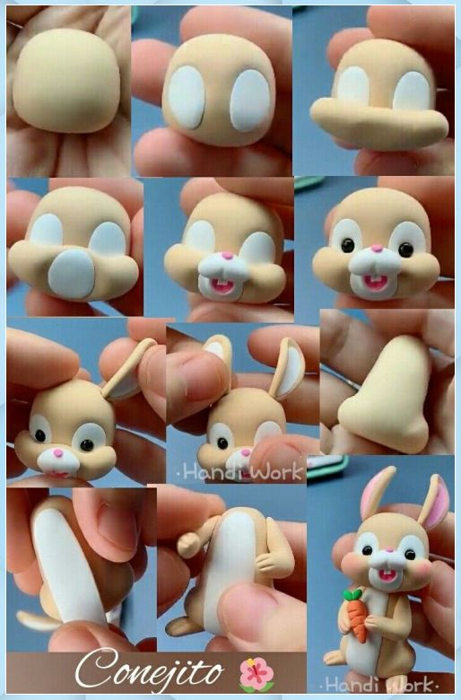 rabbit clay - Fondant Character Ideas