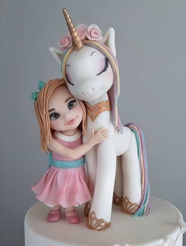 unicorn girl clay - Fondant Character Ideas