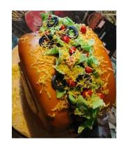 Taco or Hambuger cake - Home Baked Cakes by Judy