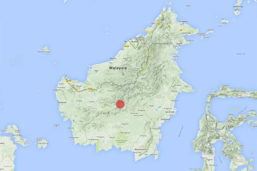 Location of the Dr Beck's research during the Murung Raya Expedition